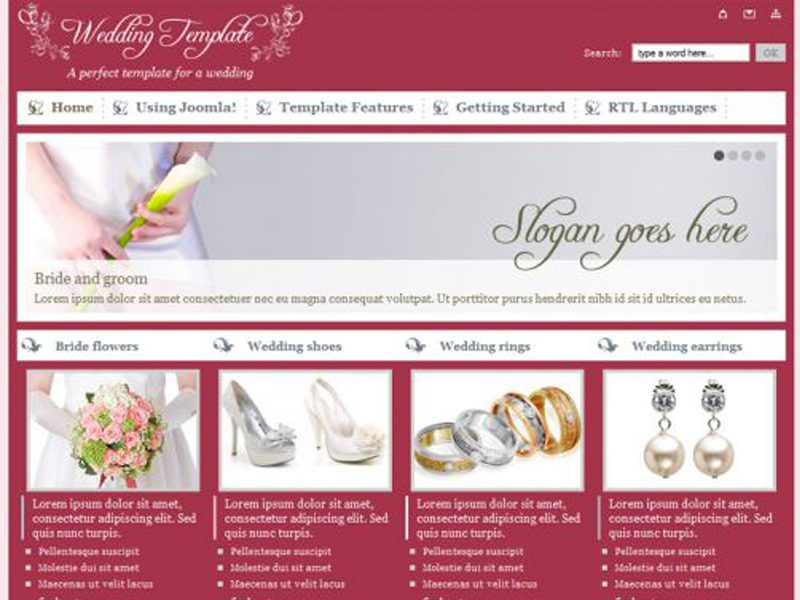 JM Wedding05 Free Joomla Template For Wedding