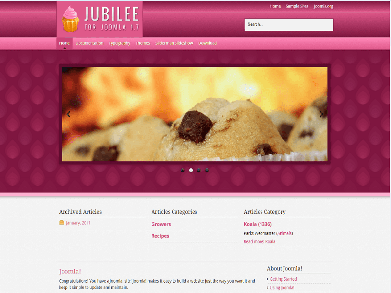 JS Jubilee – Joomla 1.7 Template Food