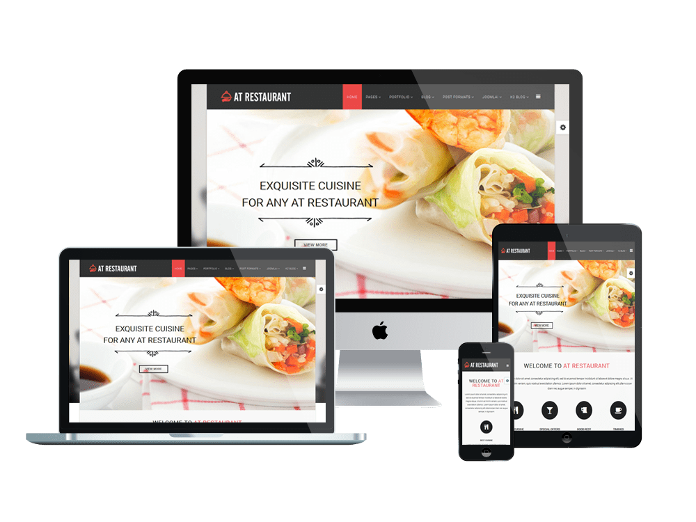 AT Restaurant – Food Order / Restaurant Joomla Template