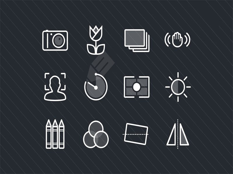 Photography & Camera Function Free Icons