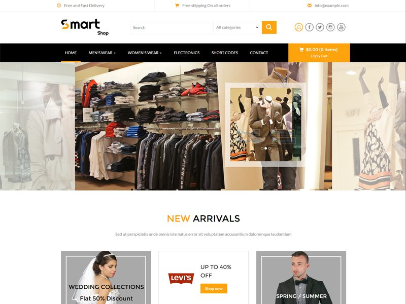 Smart Shop Free Responsive Fashion Bootstrap Template