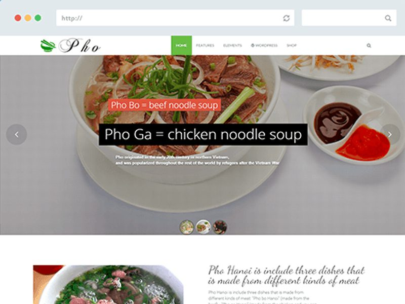 WT Pho Free Joomla Template For Food
