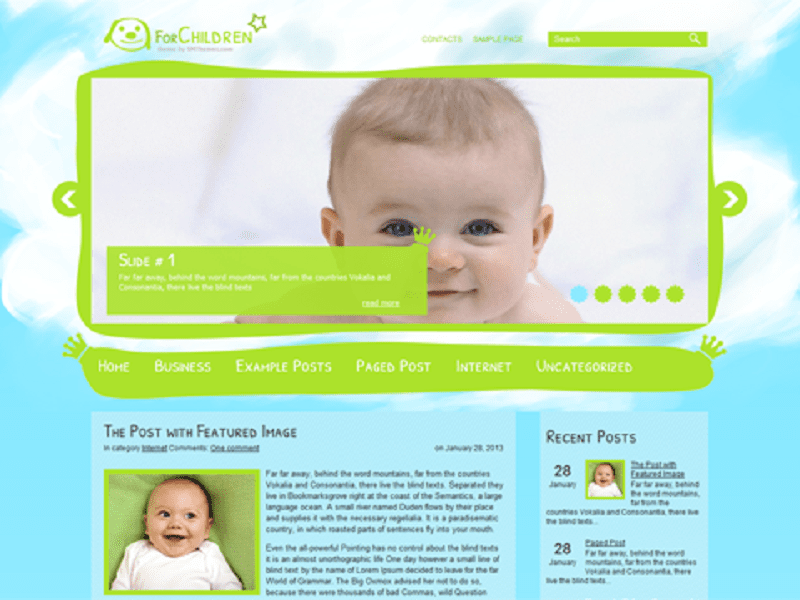 ForChildren-Free Theme WordPress For Child