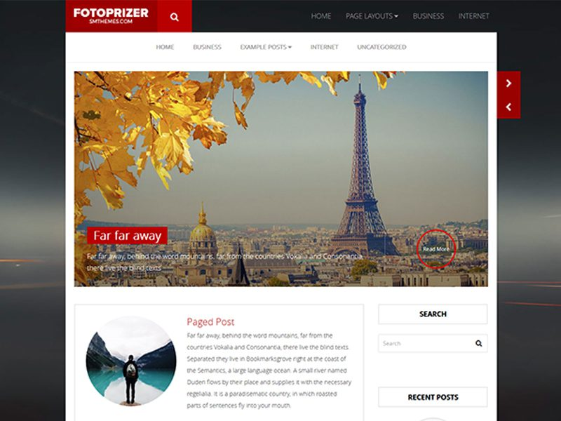 FotoPrizer Free Responsive Blog WordPress Theme
