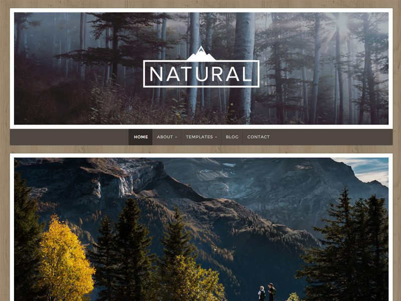 Natural Lite Free WordPress Theme For Travel Blog