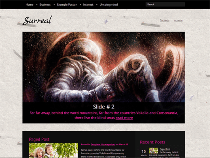 Surreal-Free Theme WordPress For PhotoGraphy