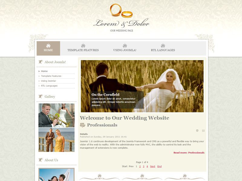 JM Wedding04 Free Joomla Template For Wedding
