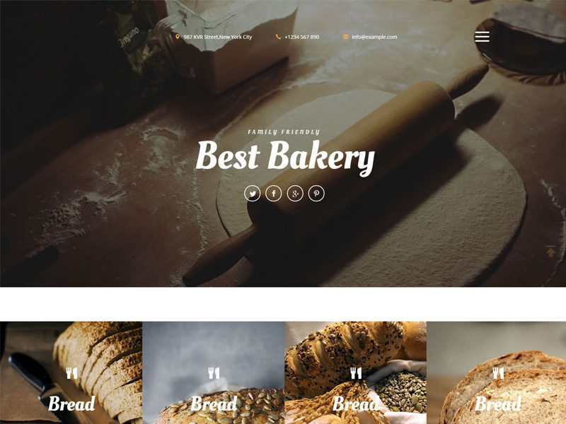 Best Bakery Free Responsive Bread Bootstrap Template
