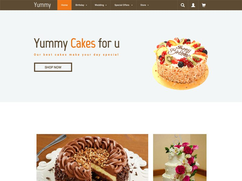Yummy Free Responsive Food Bootstrap Template