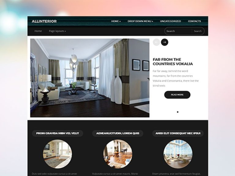 ALLINTERIOR FREE RESPONSIVE INTERIOR WORDPRESS THEME