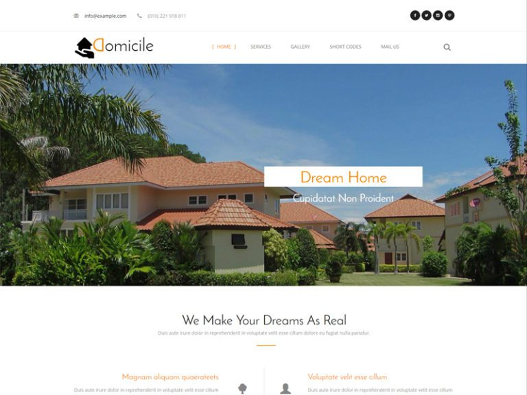 Domicile is Bootstrap Furniture Template for an awesome real estate, builder, consulting business category web design. This absolutely responsive web template is designed using HTML5, CSS3 and Bootstrap framework. This elegant template is useful for new furniture websites. Download and enjoy!