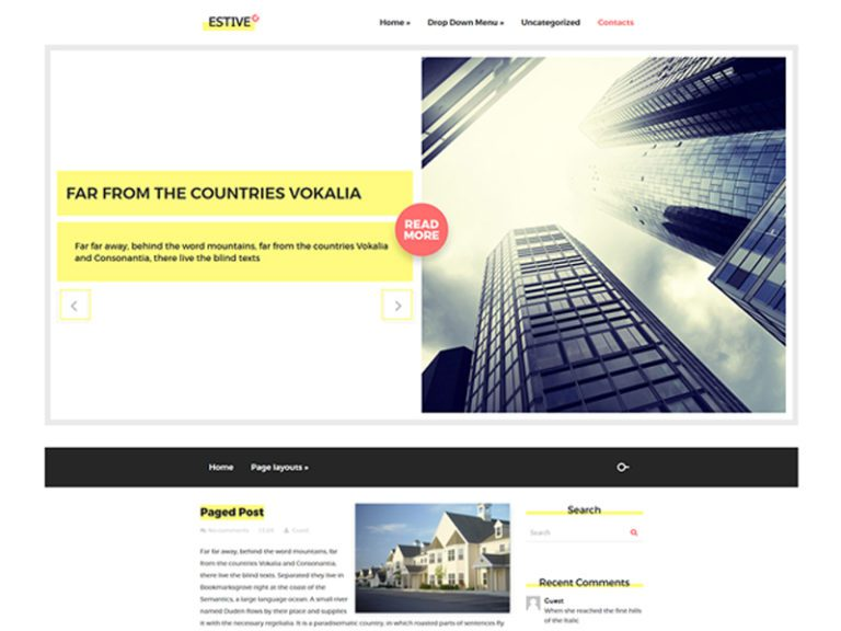 ESTIVE FREE RESPONSIVE REAL ESTATE WORDPRESS THEME