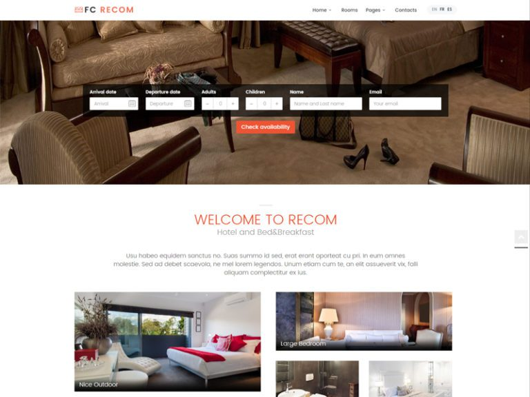FC RECOM FREE BOOTSTRAP HOTEL TEMPLATE