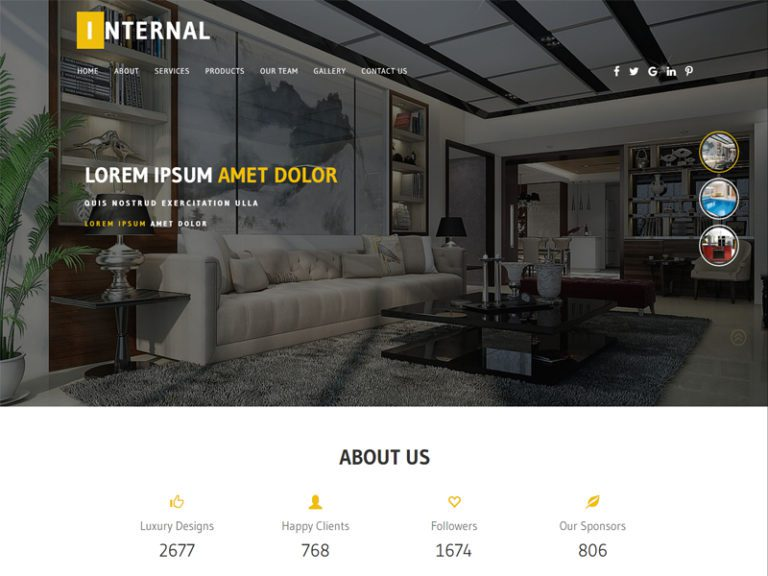 INTERNAL FREE INTERIOR WEBSITE TEMPLATE