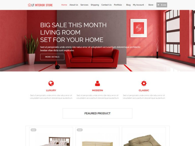 LT INTERIOR STORE FREE WORDPRESS THEME