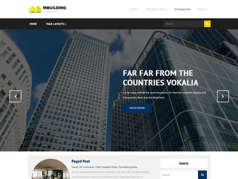 MBUILDING FREE RESPONSIVE REAL ESTATE WORDPRESS THEME
