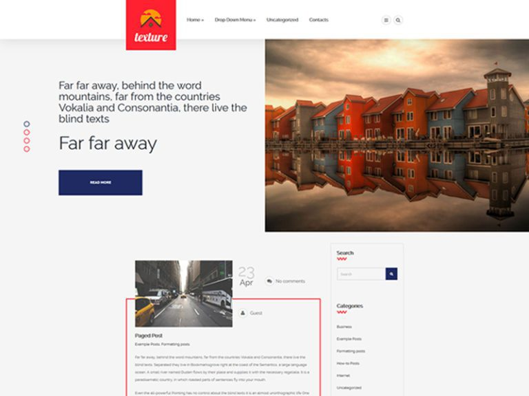 TEXTURE FREE WORDPRESS THEME FOR REAL ESTATE
