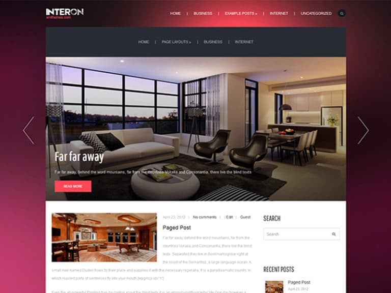 INTERON FREE WORDPRESS THEME FOR REAL ESTATE