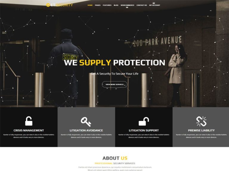ET SECURITY FREE RESPONSIVE SECURITY WORDPRESS THEME