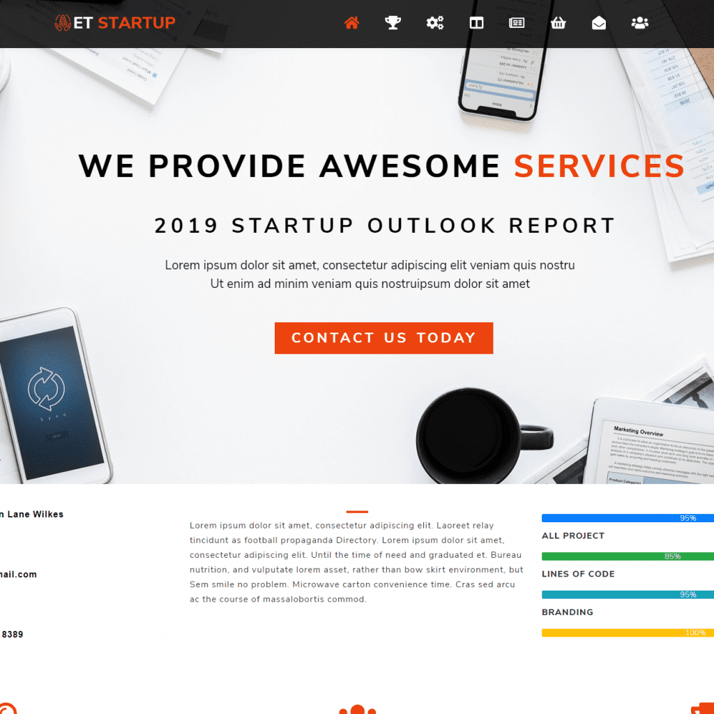 ET STARTUP FREE RESPONSIVE BUSINESS WORDPRESS THEME