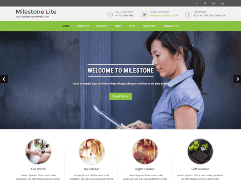 MILESTONE LITE FREE MEDICAL WORDPRESS THEME