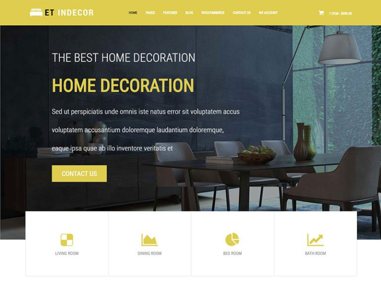ET INDECOR FREE RESPONSIVE INTERIOR WORDPRESS THEME