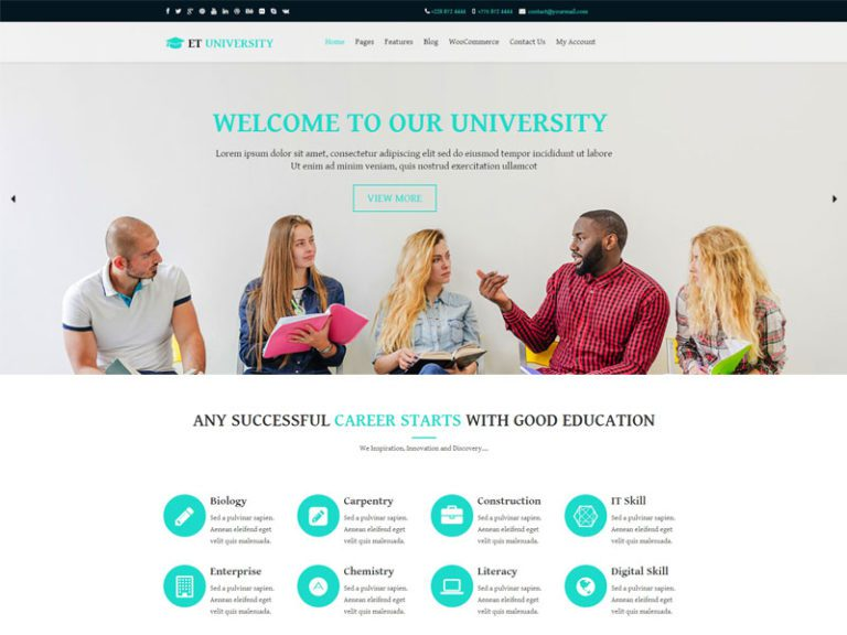 ET UNIVERSITY FREE RESPONSIVE UNIVERSITY WORDPRESS THEME