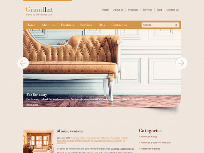 GRANDINT – FREE WORDPRESS THEME FOR INTERIOR