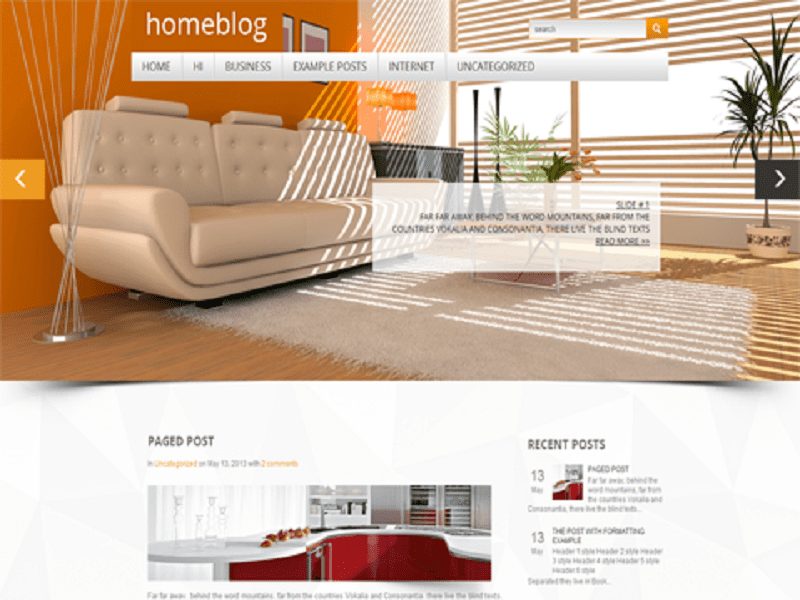 HOMEBLOG-FREE THEME WORDPRESS FOR INTERIOR