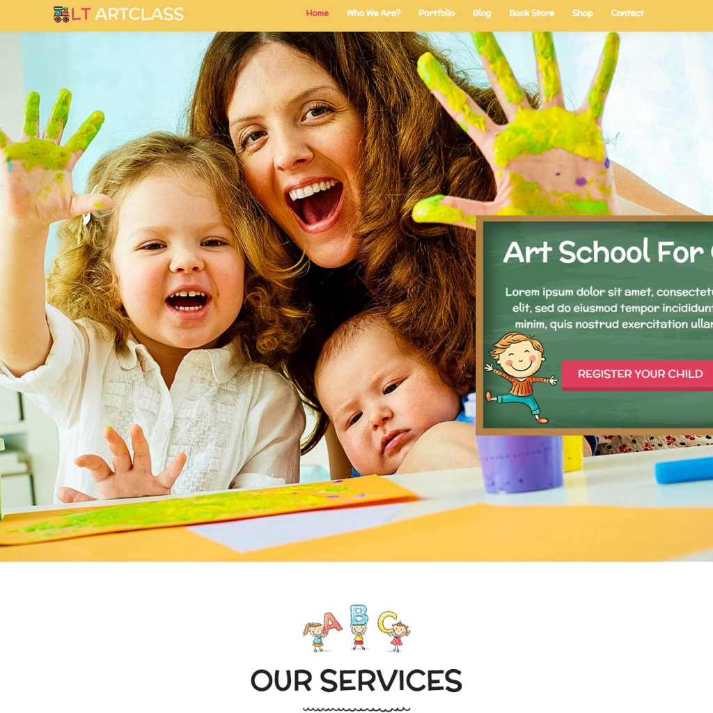 LT ARTCLASS FREE RESPONSIVE PAINTER WORDPRESS THEME