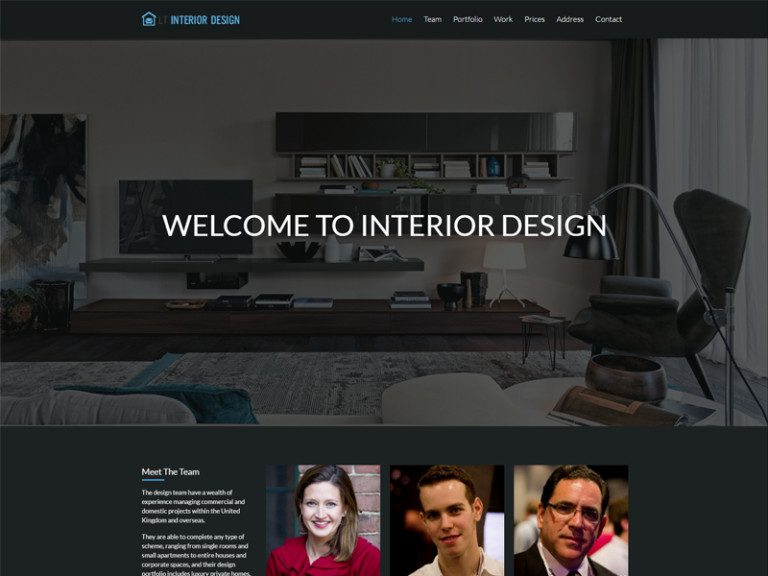 LT INTERIOR DESIGN ONEPAGE FREE WORDPRESS THEME FOR INTERIOR