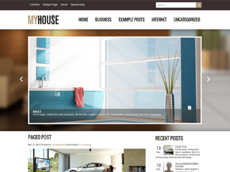 MYHOUSE-FREE THEME WORDPRESS FOR HOUSE