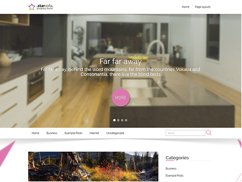 STARSOFA FREE INTERIOR WORDPRESS THEME