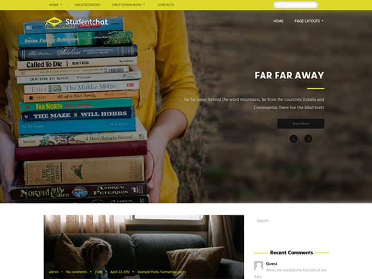 STUDENTCHAT FREE WORDPRESS EDUCATION THEME
