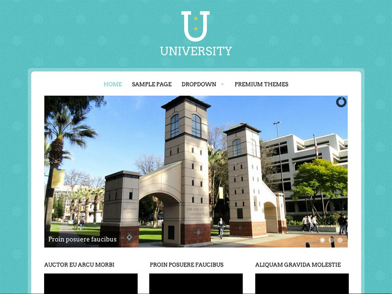 UNIVERSITY EDUCATIONAL FREE WORDPRESS THEME