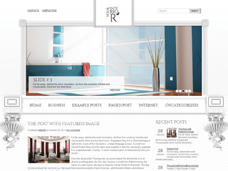 YOURINTERIOR – FREE WORDPRESS THEME