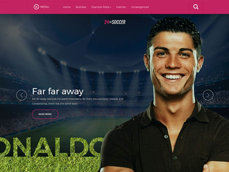 24SOCCER FREE WORDPRESS SPORT THEME