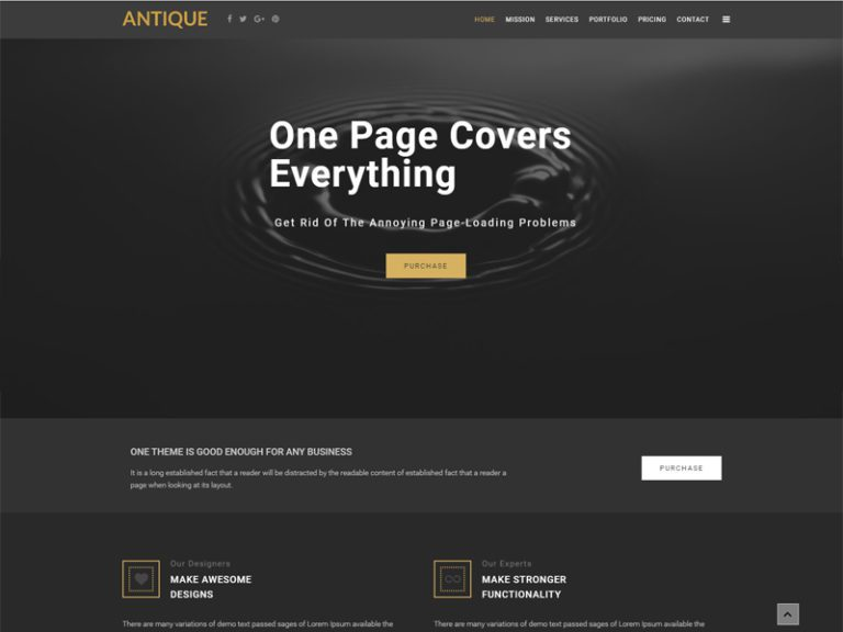 ANTIQUE FREE BUSINESS JOOMLA TEMPLATE