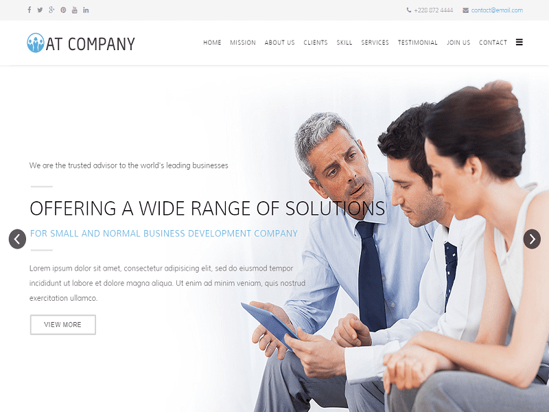 AT COMPANY – FREE ONEPAGE TEMPLATE JOOMLA FOR BUSINESS