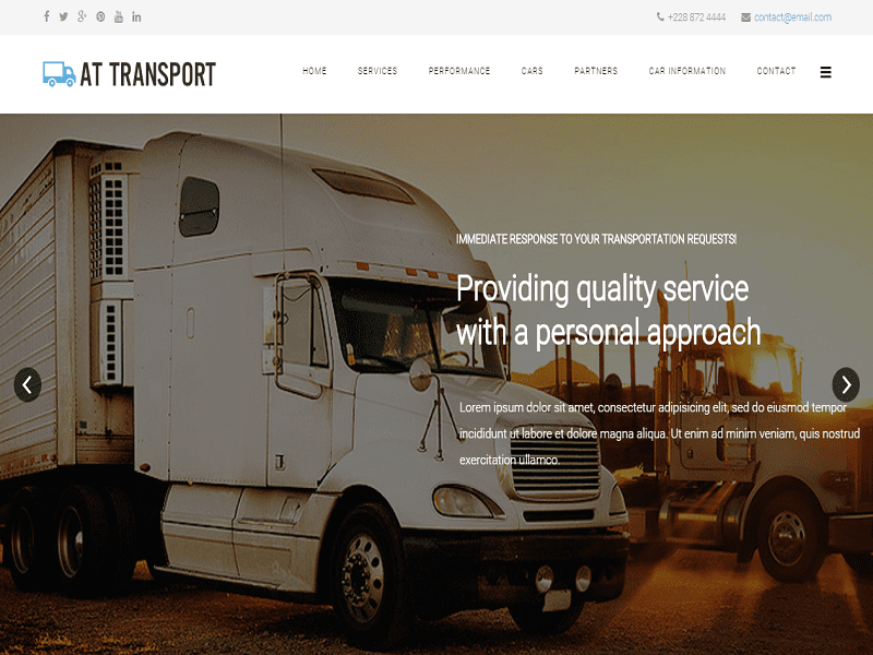AT TRANSPORT – AUTOMATIVE , TRANSPORT ONEPAGE FREE JOOMLA TEMPLATE