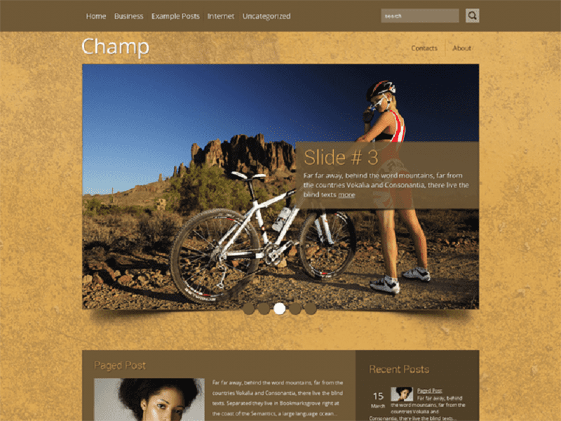 CHAMP-FREE THEME WORDPRESS FOR SPORT