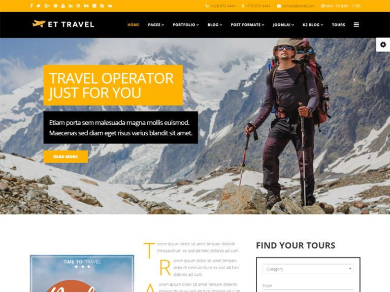 ET TRAVEL FREE JOOMLA TRAVEL TEMPLATE