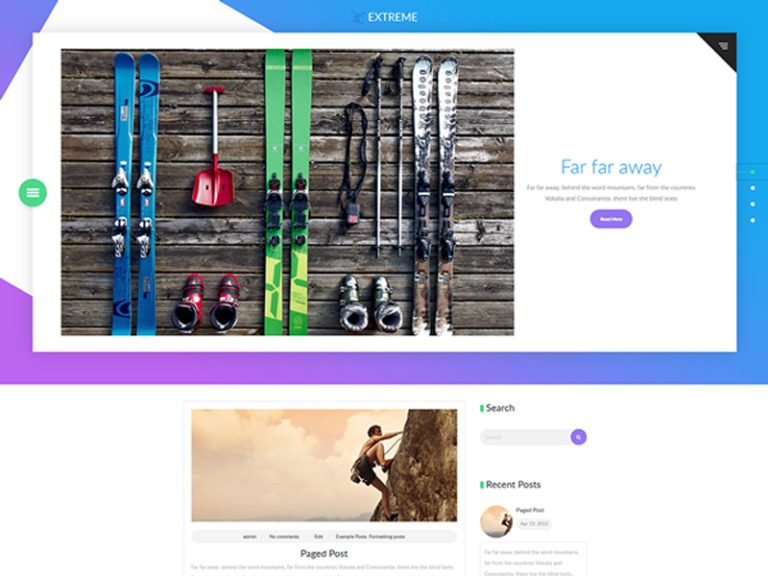 EXTREME FREE WORDPRESS SPORT THEME