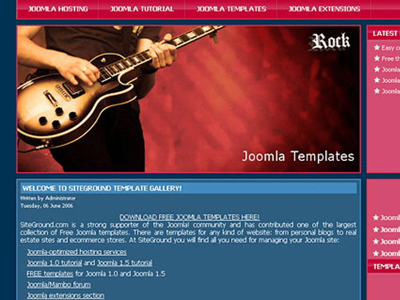 J-ROCK FREE DOWNLOAD JOOMLA BEST TEMPLATE FOR MUSIC