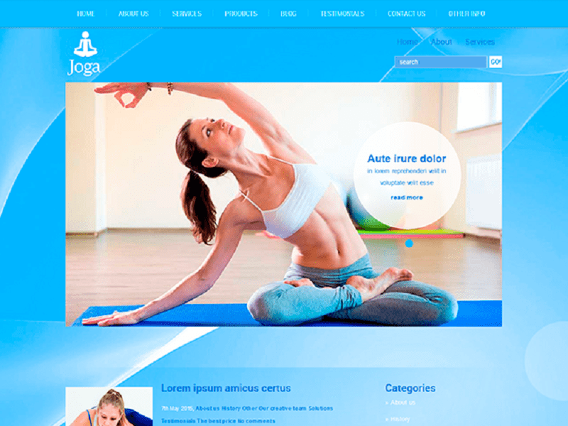JOGA – FREE WORDPRESS THEME FOR SPORT