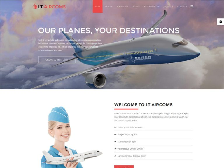 LT AIRCOMS FREE RESPONSIVE AIR TRANSPORT SERVICES JOOMLA TEMPLATE