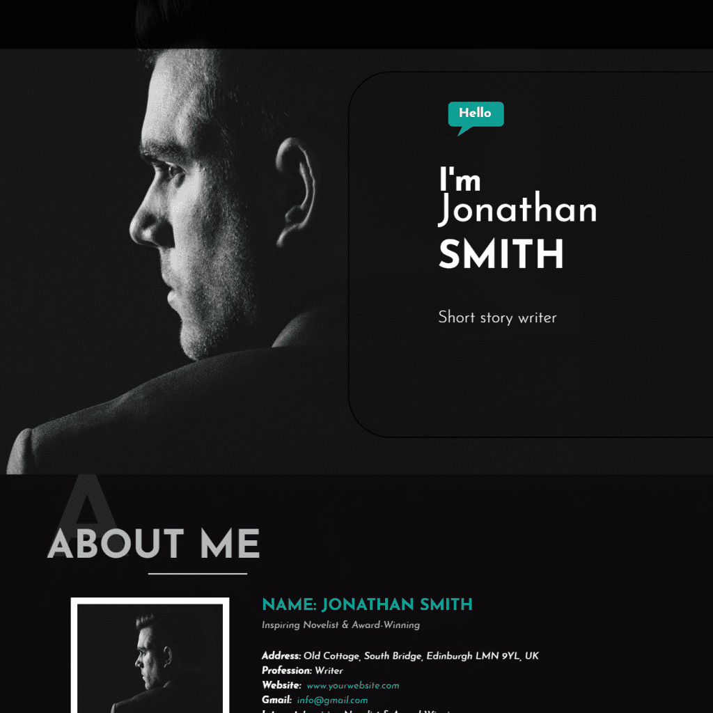 LT AUTHOR ONEPAGE SINGLE PAGE WRITER JOOMLA TEMPLATE
