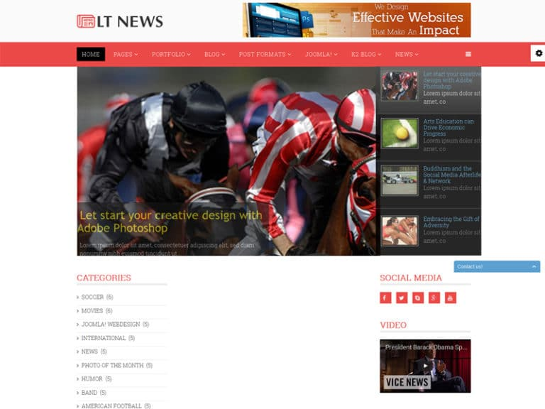 LT NEWS FREE JOOMLA TEMPLATE FOR MAGAZINE