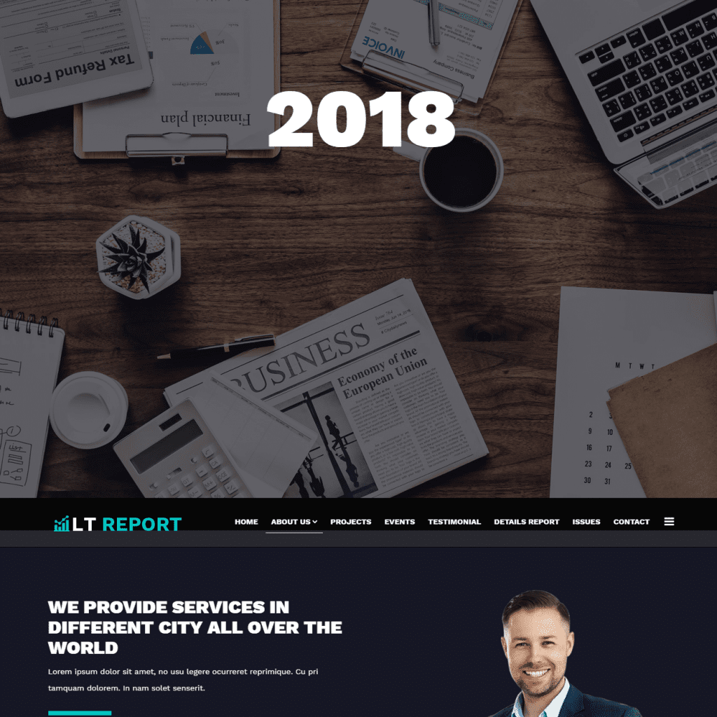 LT REPORT FREE ONE PAGE FINANCIAL REPORTING WEBSITE TEMPLATE