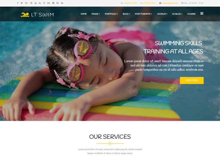 LT SWIM FREE JOOMLA SWIMMING SCHOOL TEMPLATE
